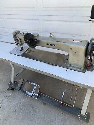 Juki Lg-158 Single Needle 30 Industrial Long Arm Walking Foot Sewing Machine