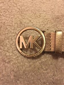 Gold Michael Kors belt women's