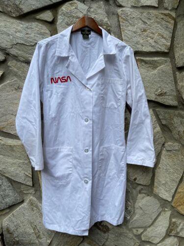 Official NASA Space Program Natural Uniforms Lab Coat White Size Medium
