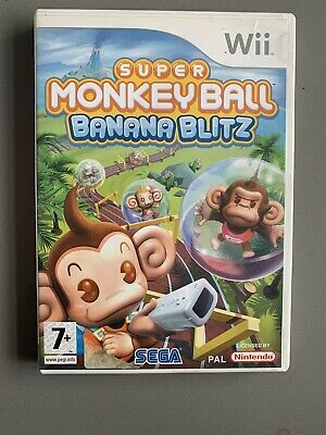 Used, Super Monkey Ball Banana Blitz -Nintendo Wii Game -SEGA - With Instructions for sale  Shipping to Nigeria