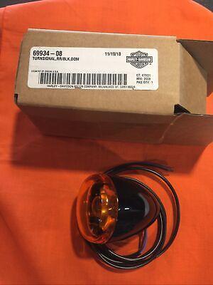 69934-08 GENUINE OEM HARLEY DAVIDSON BLACK REAR TURN SIGNAL