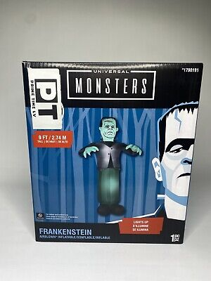 Universal Studio Monsters FRANKENSTEIN Blow Up Life Size 9FT Inflatable Gemmy