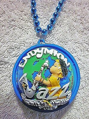 """ENDYMION 2018"" LIGHT-UP POLYSTONE/PLASTIC MG PARADE THEME MEDALLION BEAD JAZZ"
