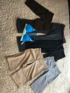 Size 4 lululemon sports bra 4 pairs of size 6 capris & pants