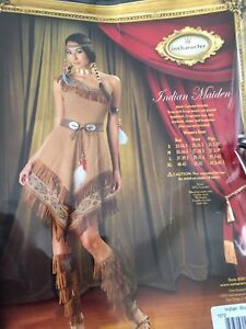 Indian maiden Halloween costume size large
