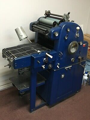 Ab Dick 360 Chain Delivery Offset Printing Press In Working Condition.