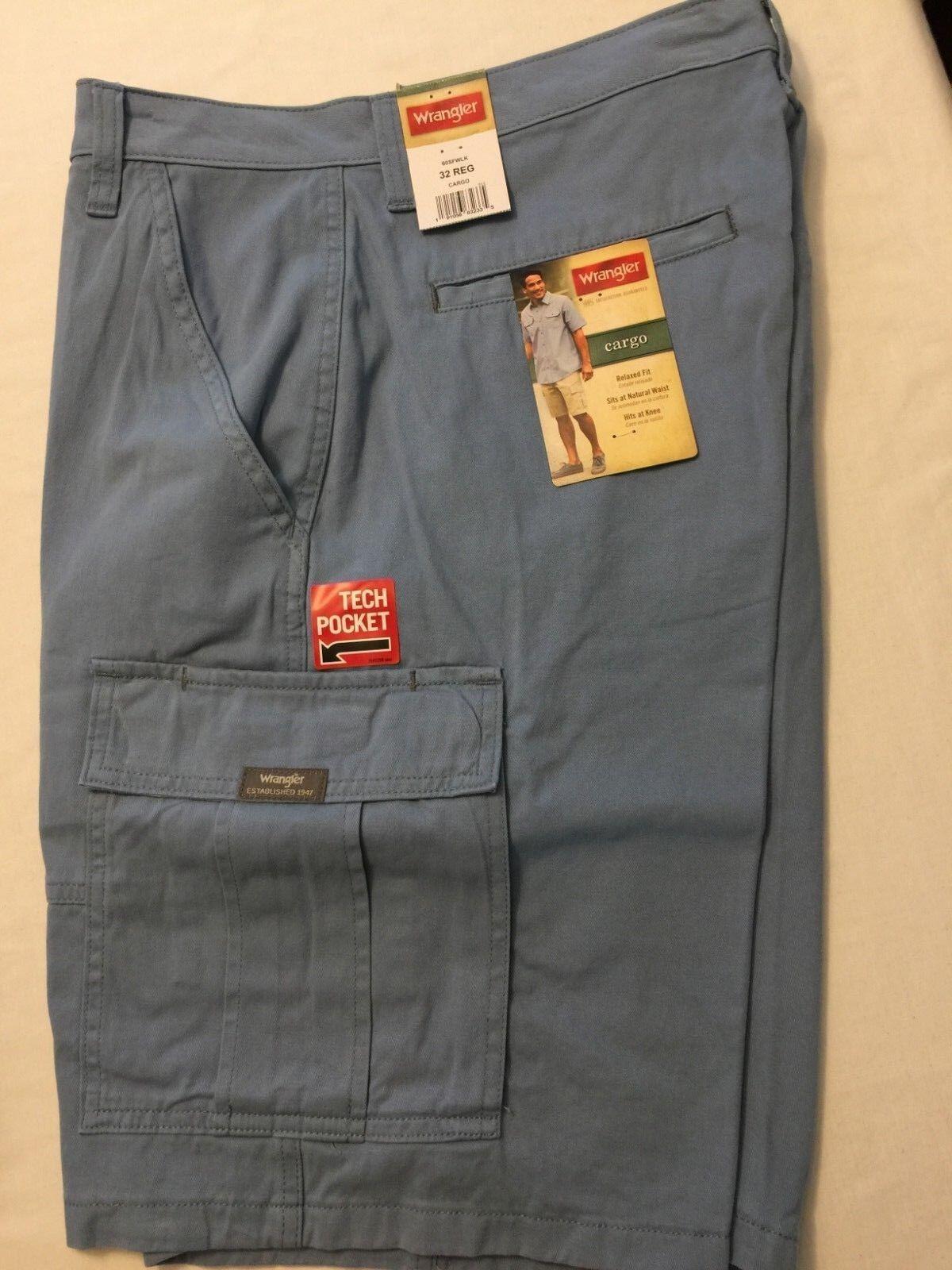 c1912b6255 ... NWT Wrangler Men's Cargo Shorts Stone Khaki Blue, Green Camo Tech  Pocket Relaxed фото ...