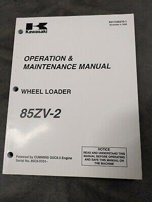 Kawasaki 85zv-2 Wheel Loader Operation Maintenance Manual