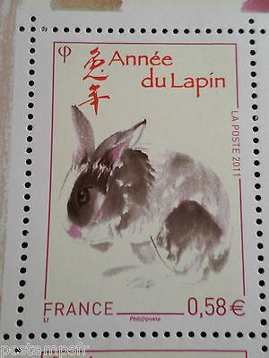 Frankreich 2011,TP 4531 neues AN chinesisches,Jahr das Kaninchen,CHINA Hase YEAR