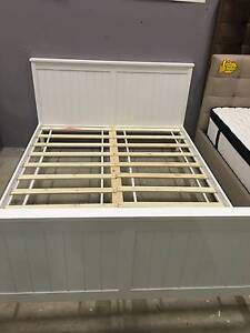 Double size Solid Pine Wood Bed Frame white Brand New Clayton South Kingston Area Preview
