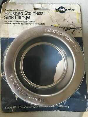 InSinkErator Sink Flange, Brushed Stainless Steel (FLG-SSB) -