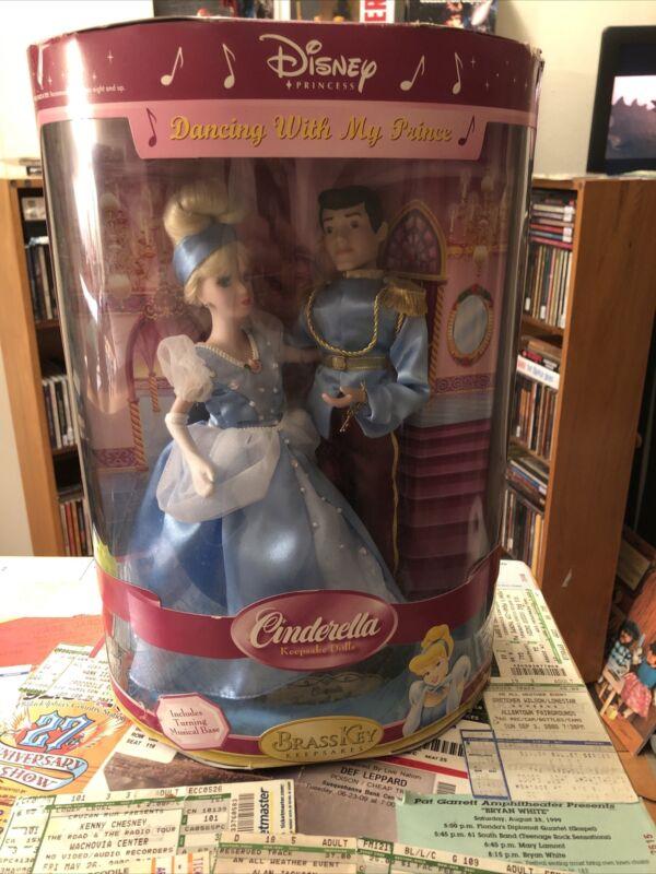 cinderella Porcelain Doll  Dancing With My Prince Musical Base NIB read descrip