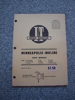 Minneapolis-moline Ub Uts 5-star M-5504602604670 Tractor Shop Service Manual