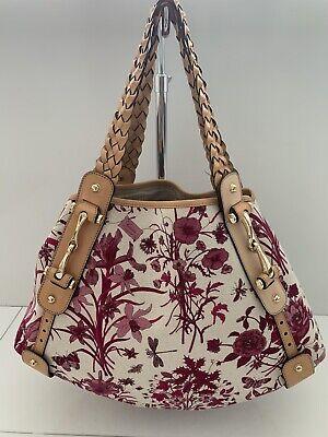 GUCCI Vintage Pink & White Floral Horsebit Hobo Bag Lightly Used!