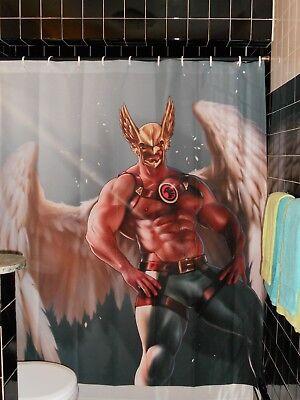 Licensed Jorden Arts  Hawkman Shower Curtain Superhero Gay Butch - Superhero Shower Curtain