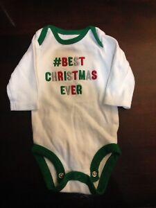 Newborn Christmas onesie