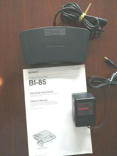 Sony BI-85 Transcriber Foot Control Unit FS-85 + AC Power Supply + Manual