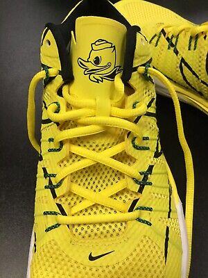 Nike Oregon Ducks Flywire Lunar Trainer Shoe Sneakers Mens 10.5 New 654283 701