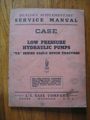 Case Va Tractor Eagle Hitch Hydraulic Pump Service Manual Original