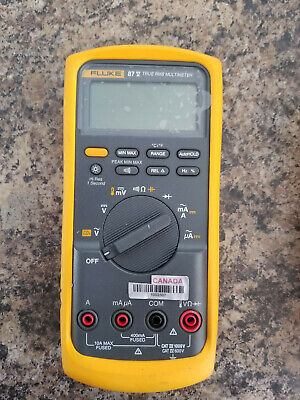Fluke 87v True Rms Industrial Multimeter With Temperature No Leads