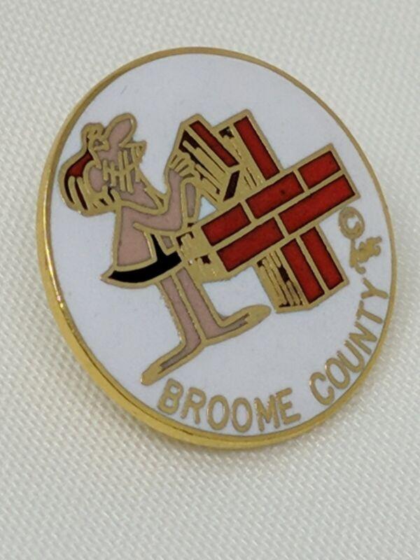 American Red Cross ARC Pin Broome County BC Comic Strip Creator Johnny Hart 8/6