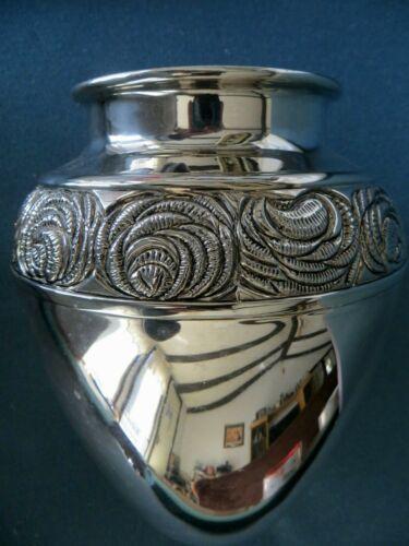 Vintage Silverplate Bowl Floral Vase INTERNATIONAL SILVER  Flower Pattern
