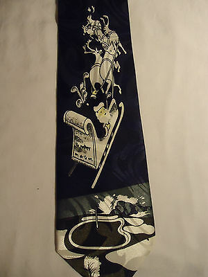 Best Tie Blue and White Christmas Santa and Reindeer Sled Designs Tie 58