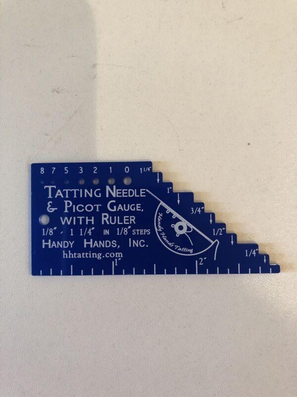 Tatting Needle & Picot Gauge W/ Ruler