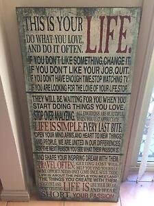 Wall hanging with text Glenfield Campbelltown Area Preview
