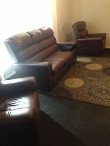Real Leather Lounge Maroon $100 Bellbird Park Ipswich City Preview