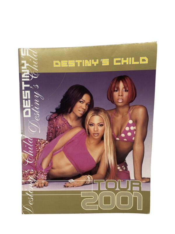 Rare R&B Y2K Music Beyoncé Kelly Michelle 2001 Destiny's Child Tour Program