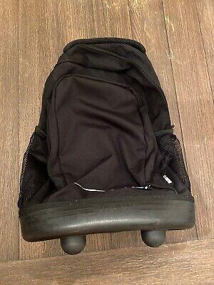 """J World New York Sunslider 4-Wheel Rolling Backpack Black 18"""""""