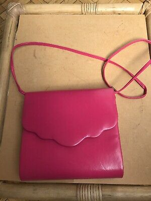 VINTAGE PINK LONG SHOULDER STRAP HANDBAG BAG 70s 80s Small