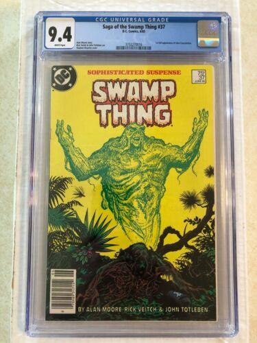 Saga Of The Swamp Thing #37 CGC 9.4 WT DC 1st full John Constantine newsstand