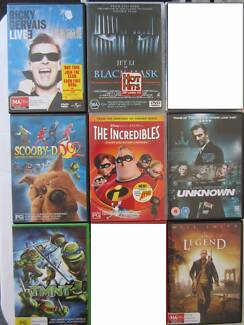 DVD movies & comedy, see listing $3 each