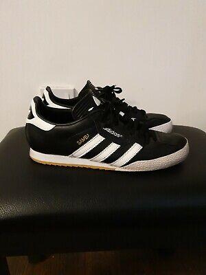 Mens Black Adidas Samba Trainers Size 8.5