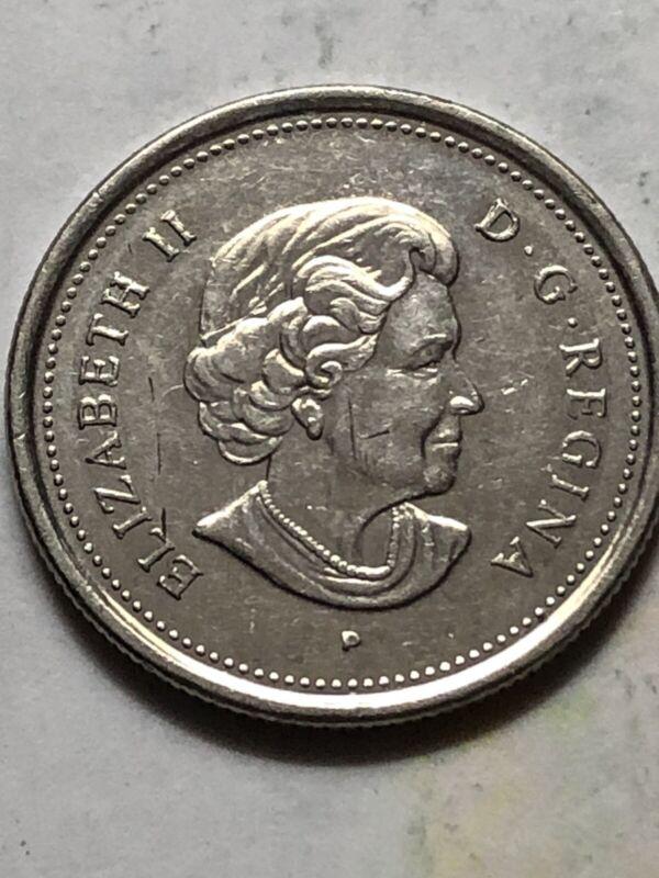 2005 Canadian Caribou 25 Cent Coin - Canada Quarter Queen Elizabeth II Lot U65