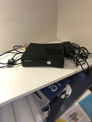 Microsoft Xbox 360 4GB Black Console (PAL) Includes Power Brick And Scart