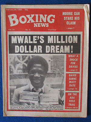 Boxing News Magazine   29 2 80   Lottie Mwale Cover