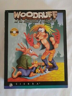 Woodruff and the Schnible of Azimuth Big Box PC CD ROM Game - Retro Rare - 1994 for sale  Shipping to Nigeria