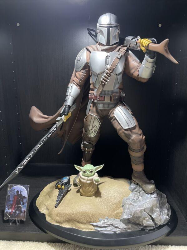 Xionart Custom Star Wars The Mandalorian & Grogu 1/4 Figure Statue Only 70 Made