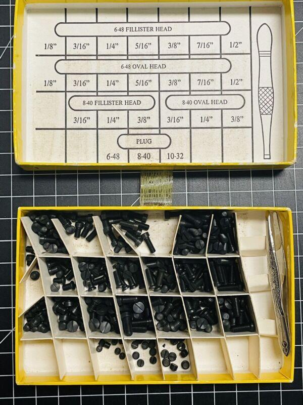 FORSTER  GUN SCREW KIT 23 SIZES 6-48 6-48 8-40 Fillister Oval Head Plug