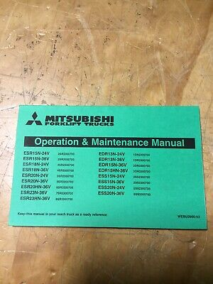 Mitsubishi Forklift Operation And Maintenance Manual - Webu2900-03