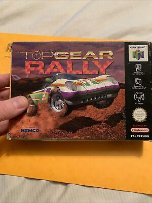 TOP GEAR RALLY original boxed PAL Nintendo 64 N64 game - Retro - Complete