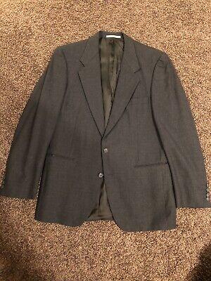 Yves Saint Laurent YSL Mens Wool Gray Jacket Blazer Coat Sz 40 R See Measurement