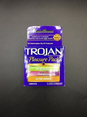 Condoms Trojan Pleasure Twisted Sensations Ultra Ribbed 2 pack 6 counts USA -