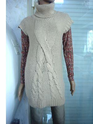 Robe pull tweed grise bien chaude 50 % laine & mohair t 36/38/40  neuve