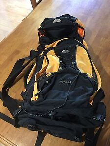 Black Wolf Hybrid 65 litre Backpack and Daypack Bunyip Cardinia Area Preview