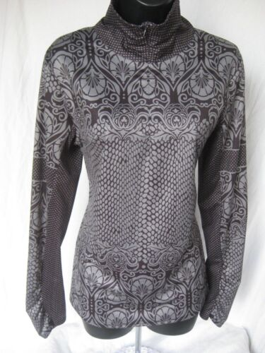 Women's PRANA ATHLETIC TOP Long Sleeve Size L Large Collared 1/4 Zip Yoga Gym