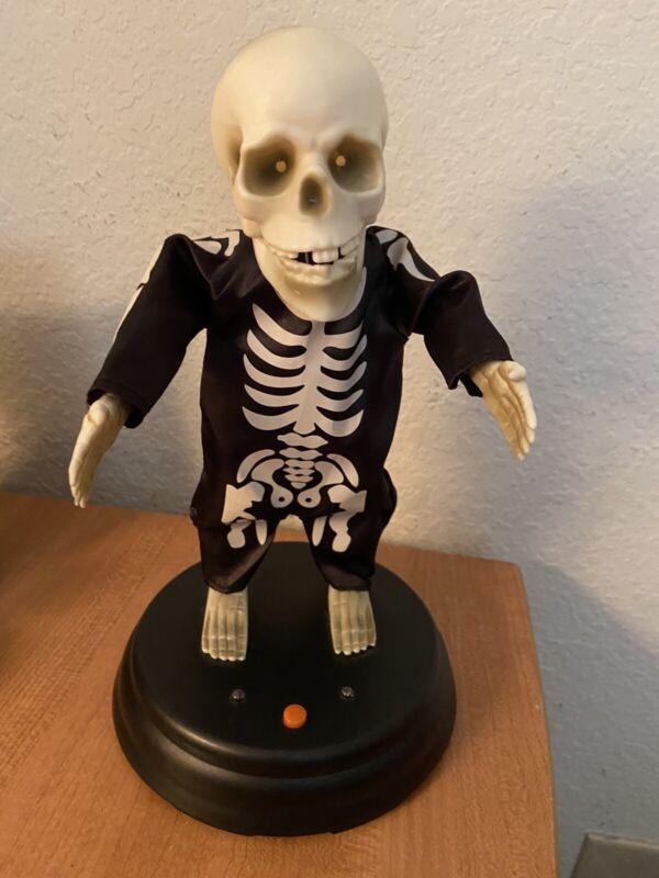 Gemmy halloween Grave raver hey baby skeleton rare works